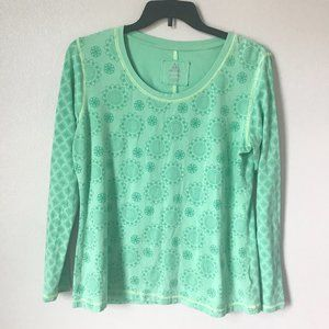 🦋3/$20 ASCEND Green Multi Patter Long Sleeve Top